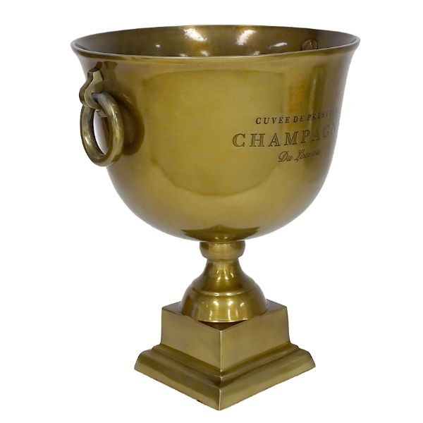 Hamptons Home Brass Trophy Champagne Cooler