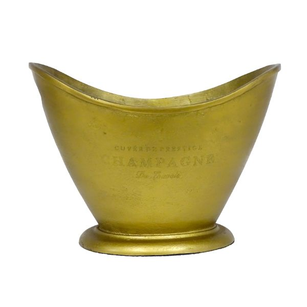 Hamptons Home Hamptons Crescent Raw Brass Champagne Ice Bucket