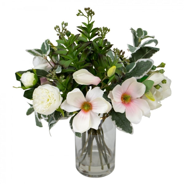Hamptons Home Magnolia Arrangement in Glass