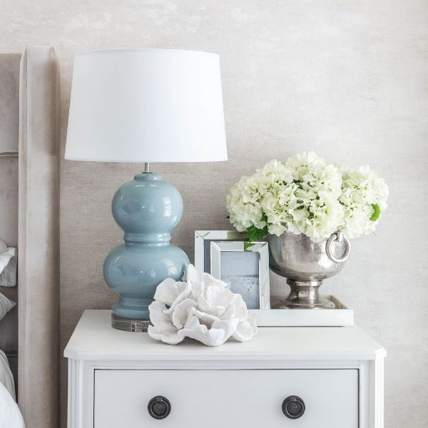 Hamptons Home Alpine Fog Bedside Table Lamp