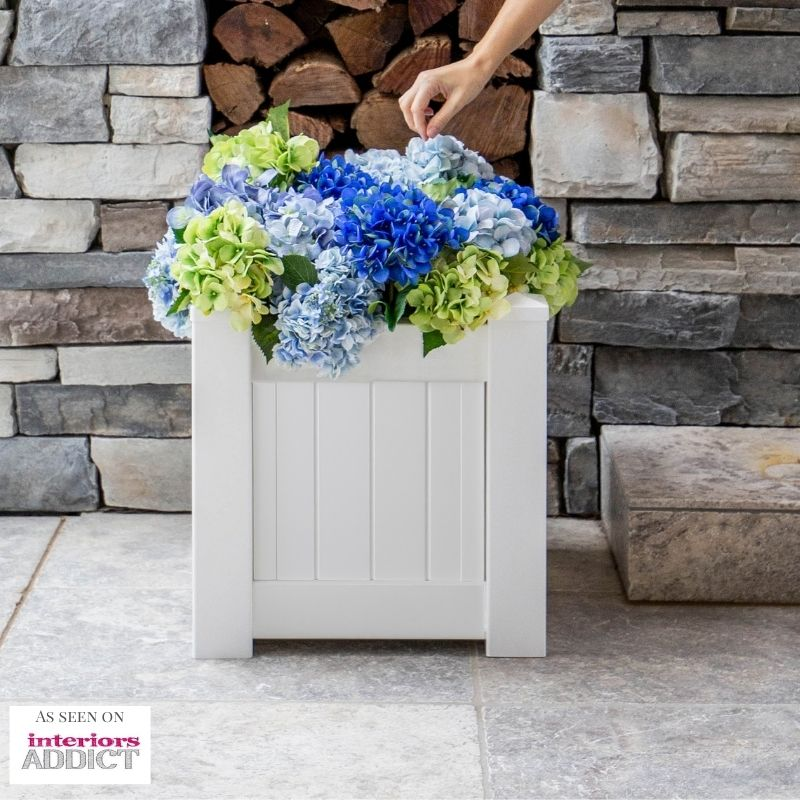 Hamptons Style White PVC Planter Box | Hamptons Home