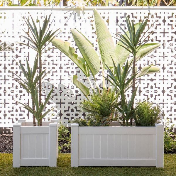 Hamptons Home MONTAUK PVC Planter Box Square 45 cm by 45 cm