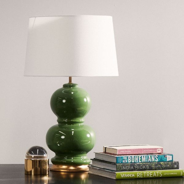 Hamptons Home Tahitian Kelly Green Bedside Table Lamp