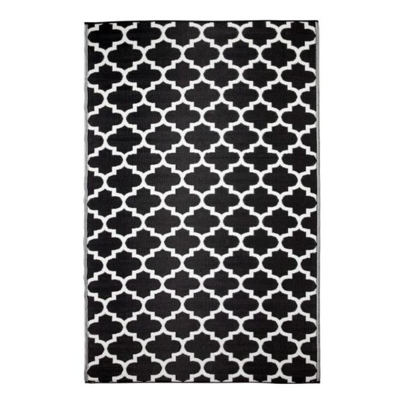 Hamptons Home Tangier Black And White Outdoor Rug