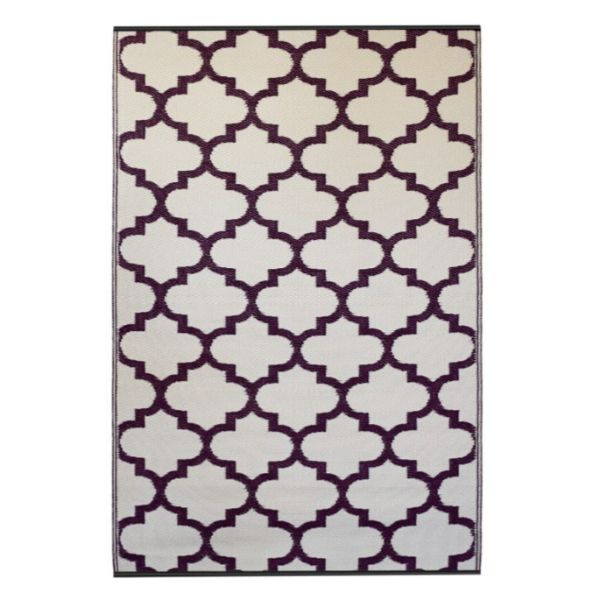 Hamptons Home Tangier Plum And White Outdoor Rug