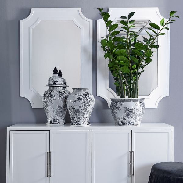 Bungalow Wall Mirror White 110 cm H