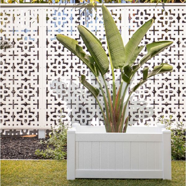 NANTUCKET PVC Planter Box Rectangle 95 cm by 45 cm | Hamptons Home