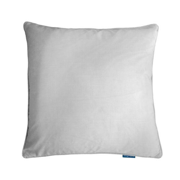 EASTWOOD Silver Jute and White Reversible Cushion Cover 55 cm by 55 cm