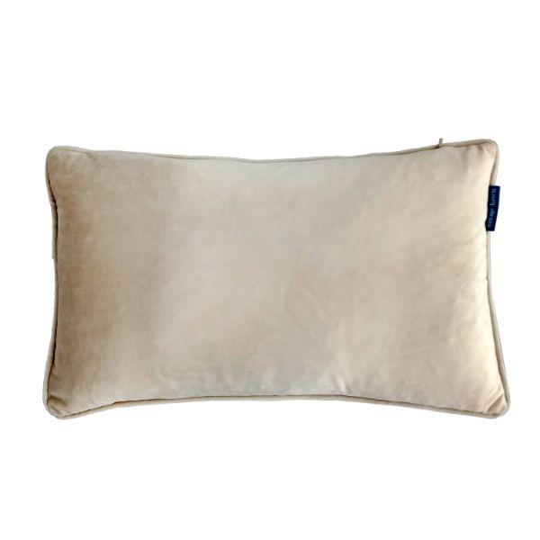 AGERY Beige Plain Velvet Cushion Cover 30 cm by 50 cm