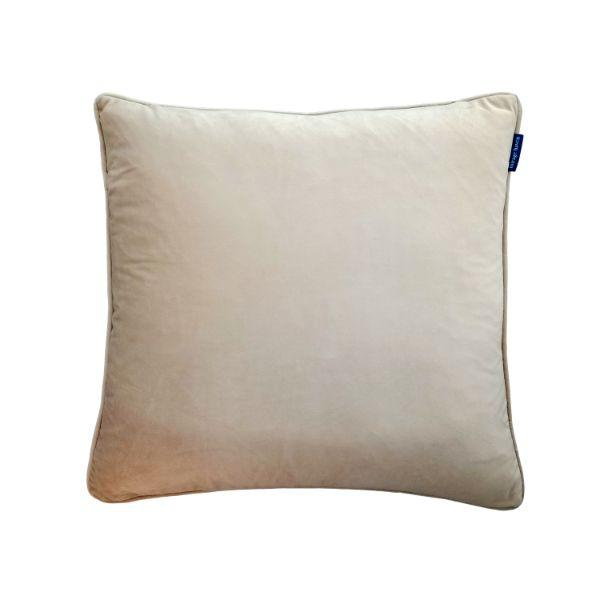 AGERY Beige Plain Velvet Cushion Cover 55 cm by 55 cm