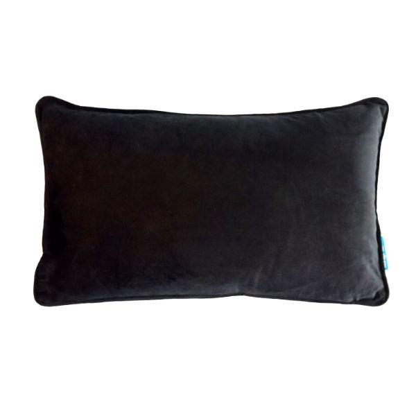 AGERY Black Plain Velvet Cushion Cover 30 cm by 50 cm