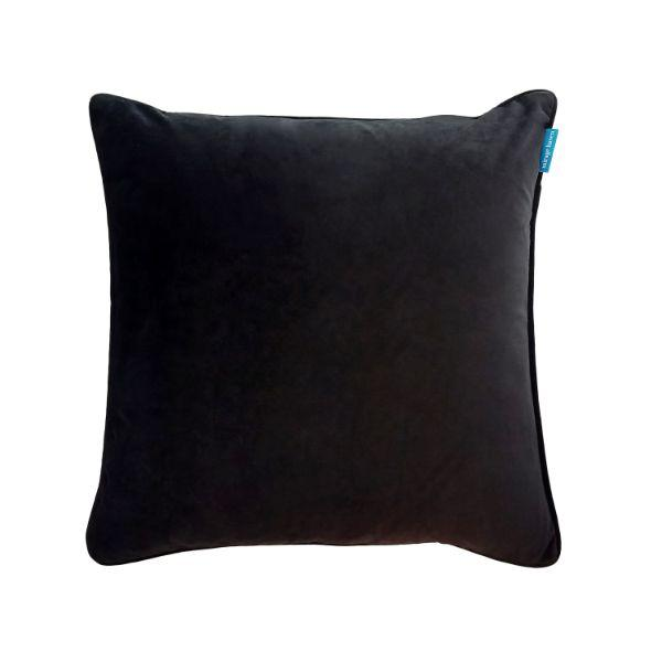 AGERY Black Plain Velvet Cushion Cover 55 cm by 55 cm