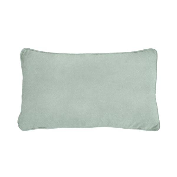 AGERY Fog Blue Plain Velvet Cushion Cover 30 cm by 50 cm