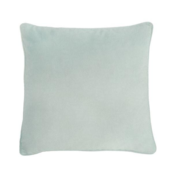 AGERY Fog Blue Plain Velvet Cushion Cover 55 cm by 55 cm