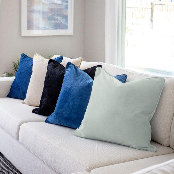 AGERY Dark Blue Plain Velvet Cushion Cover 55 cm by 55 cm