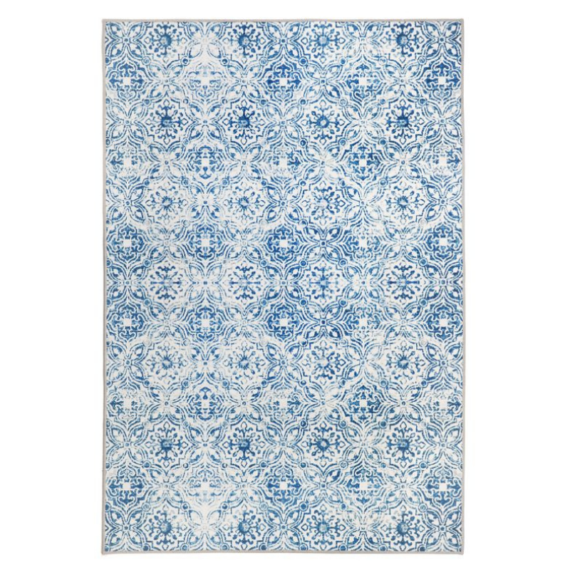 Hamptons Home MOZAIC Tiles Blue Designer Area Rug