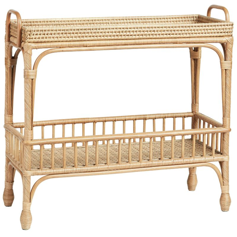 Palm Springs Bar Cart Rattan Natural | Hamptons Home