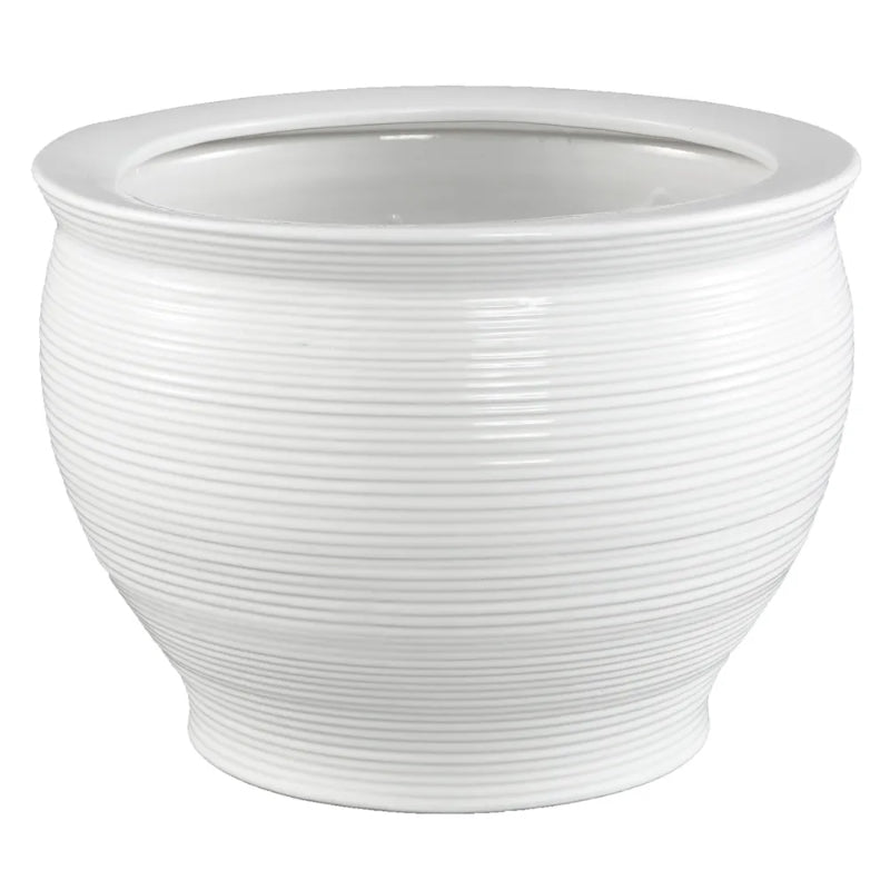 Hamptons Home Salvador Planter White 27 cm H