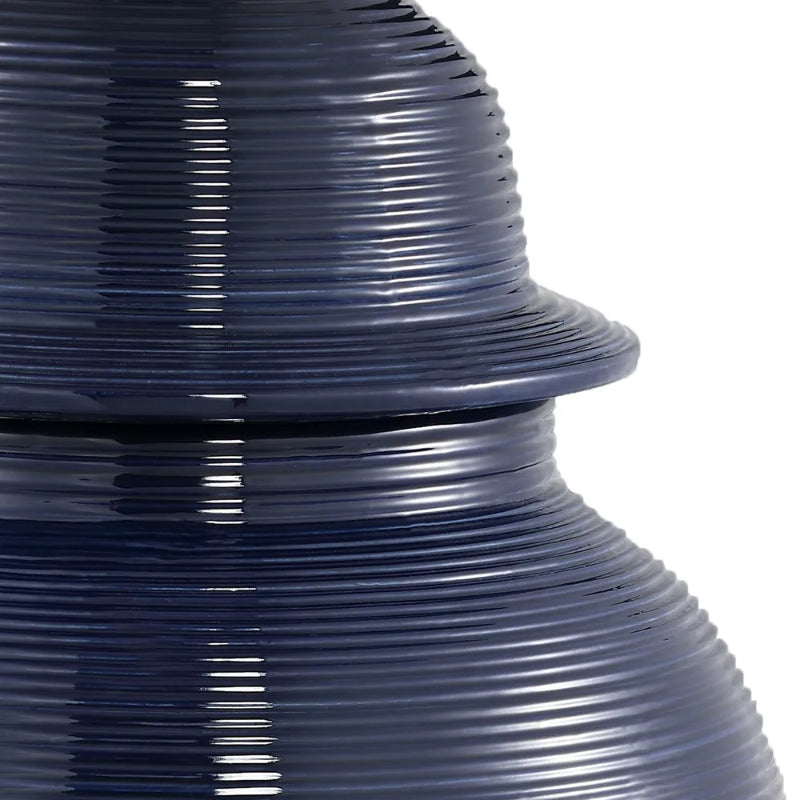 Hamptons Home Salvador Temple Jar Navy Medium 50 cm H