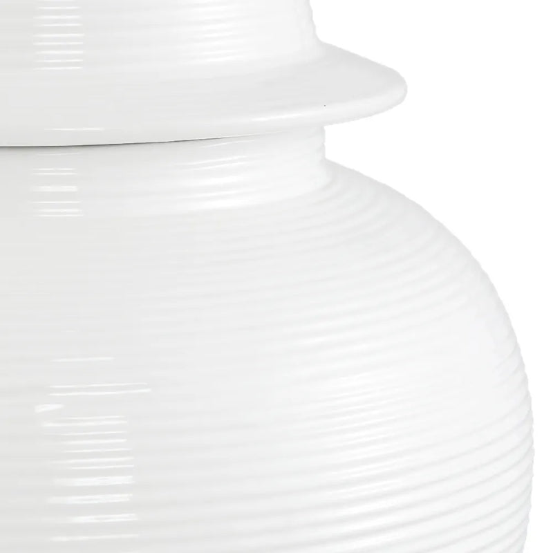 Hamptons Home Salvador Temple Jar White Medium 50 cm H