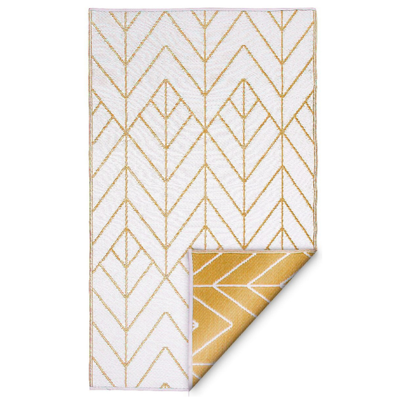 Hamptons Home SYDNEY Gold And Cream Outdoor Rug