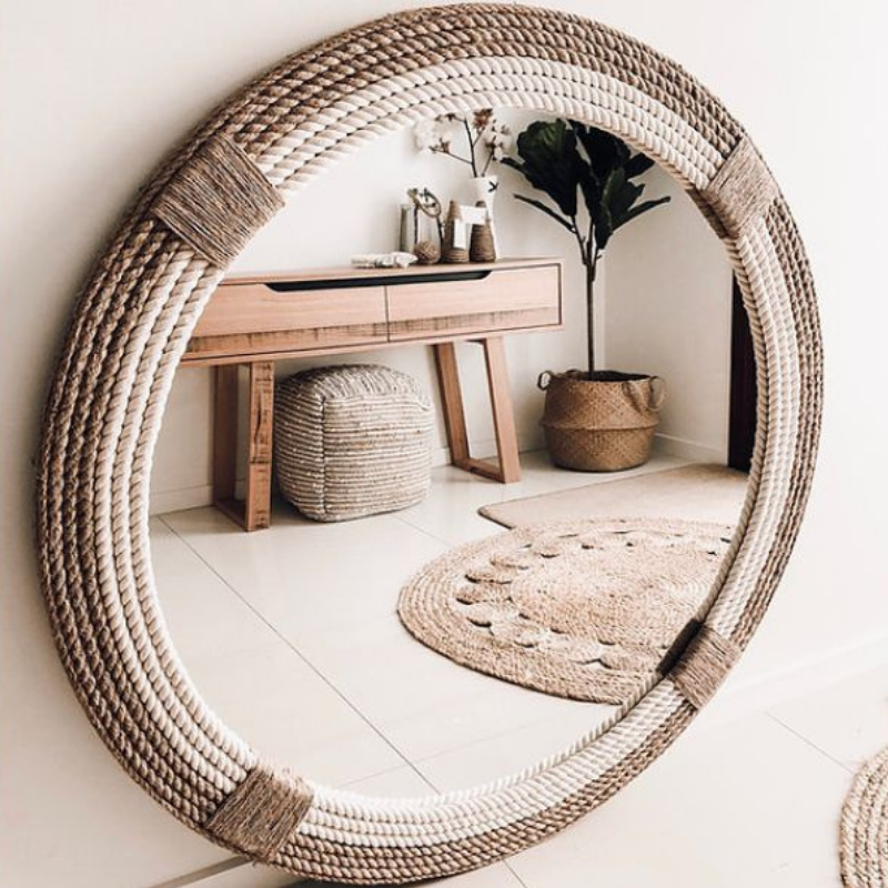 The Strand Rope Mirror | Hamptons Home