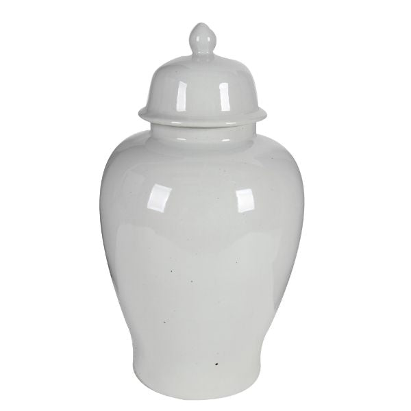 White Ginger jar with Lid 50 cm H