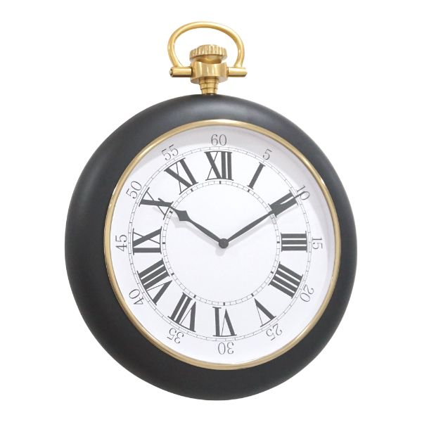 William James Black and Gold Wall Clock 64 cm