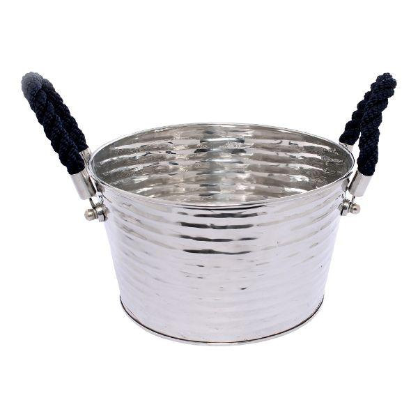 Barware - Havana Blue Rope Wine Tub 41 Cm L | Hamptons Home