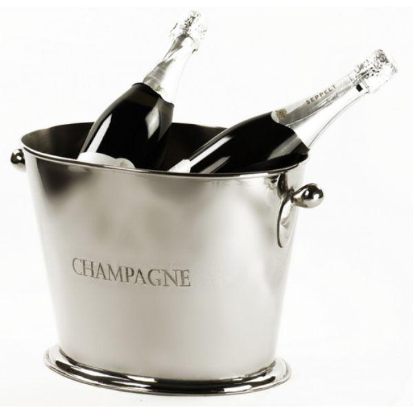 Barware - Nickel Champagne Wine Tub