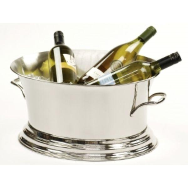 Barware - Nickel Wine Cooler Tub 46 Cm L