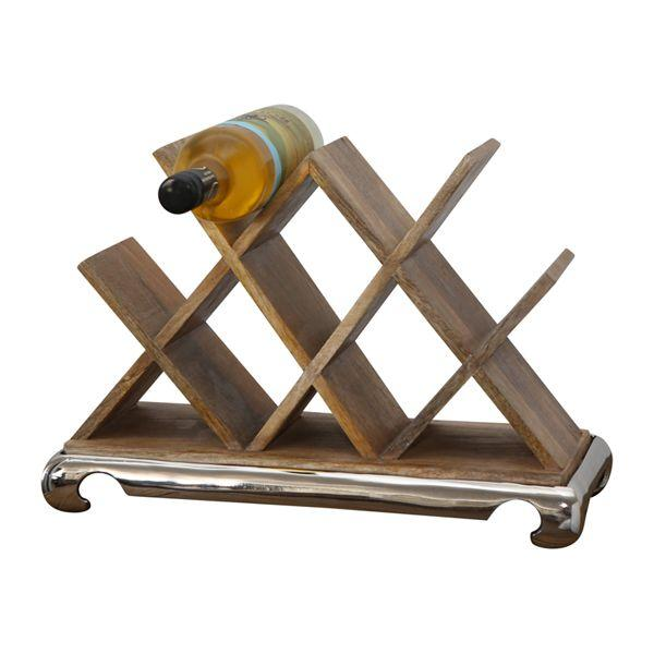 Barware - Wooden Wine Rack 31 Cm H