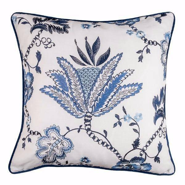 IRIS Floral Cushion Cover 50 cm by 50 cm - Hamptons Home {product_type]