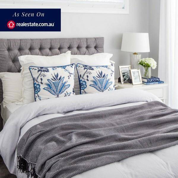 IRIS Blue and White Floral Cushion Cover | Hamptons Home