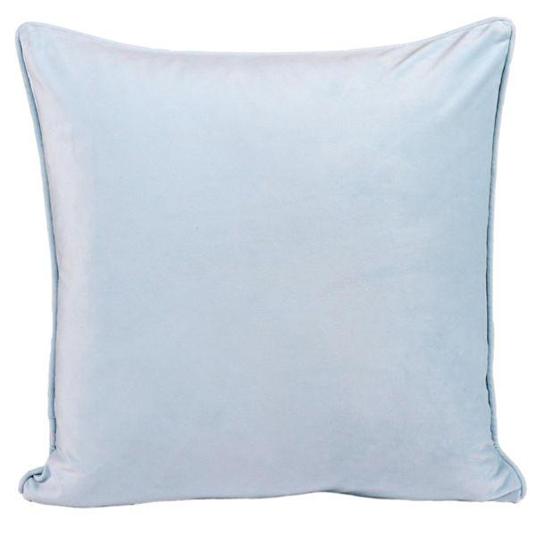 KIARA Dark Baby Blue Velvet Cushion Cover 50 cm by 50 cm | Hamptons
