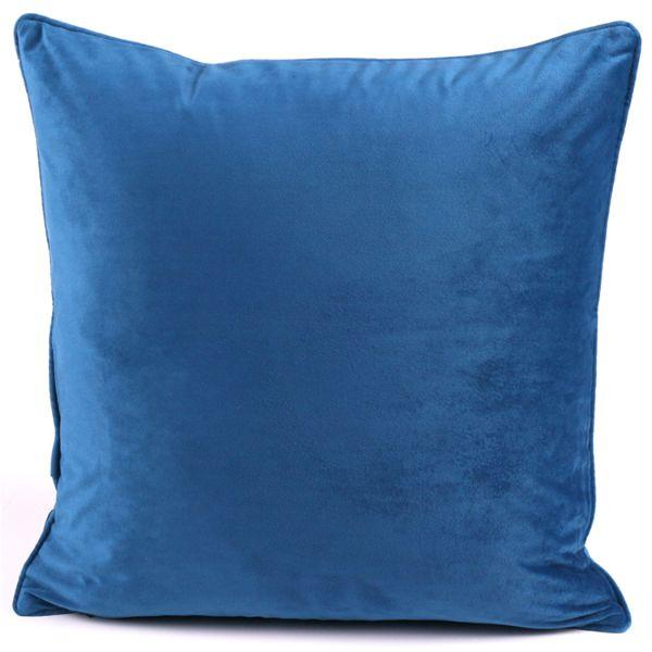 Cushions - KIARA Indigo Velvet Cushion Cover 50 Cm By 50 Cm