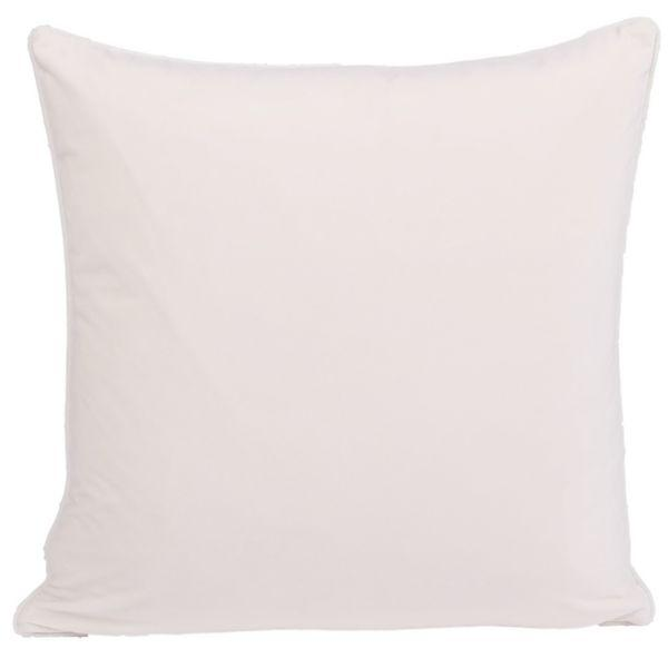 Cushions - KIARA Off White Velvet Cushion Cover 50 Cm By 50 Cm | Hamptons Home
