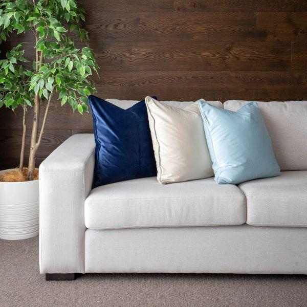 Cushions - KIARA Off White Velvet Cushion Cover 50 Cm By 50 Cm