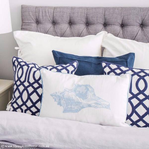 MIRAGE Hamptons Home Geometric Blue and White Cushion Cover - Hamptons Home {product_type] Hamptons style Furniture