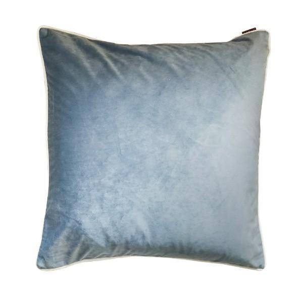 NASH Blue Grey and White Piped Cushion Cover 50 cm by 50 cm  | Hamptons Home