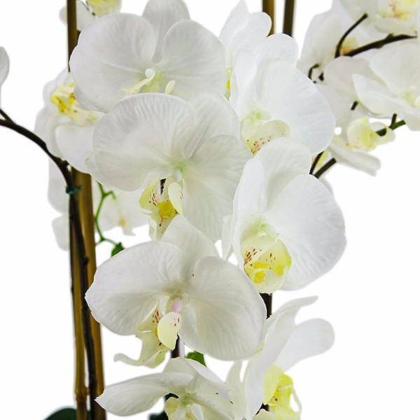 Real Touch Giant Faux Phalaenopsis Orchids in Round Ceramic Bowl 65 cm - Hamptons Home {product_type] Hamptons style Furniture