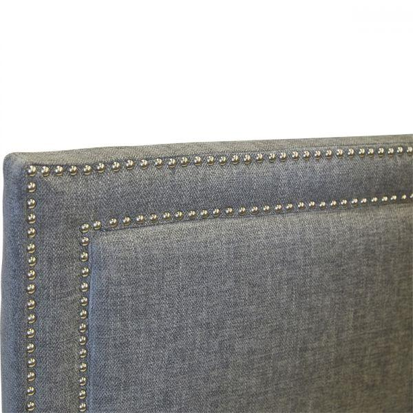 Furniture - Albany Headboard - Queen Charcoal 130 Cm H
