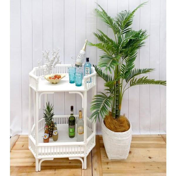 Crawford Bar Cart - White - H | Hamptons Home