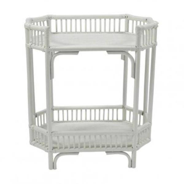 Crawford Bar Cart - White - | Hamptons Home