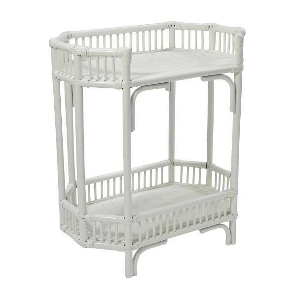 Crawford Bar Cart - White | Hamptons Home