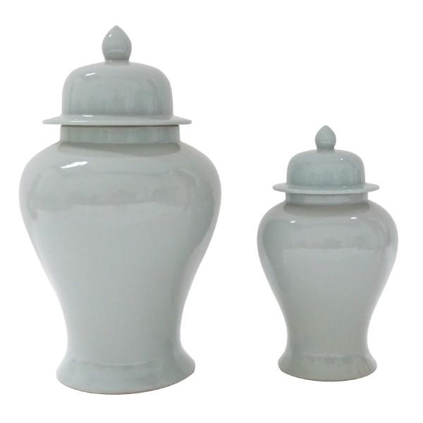 Duck Egg Blue Ginger Jar Set of 2 - Hamptons Home {product_type]