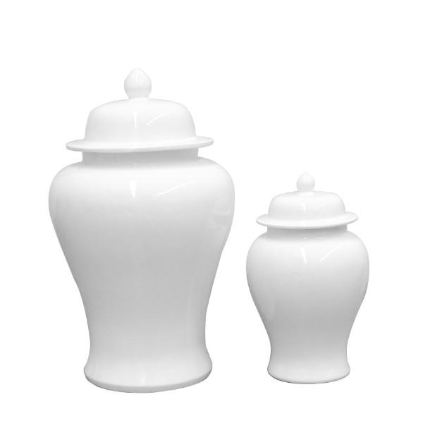STIRLING Artic White Ginger Jars Set of 2 - Hamptons Home {product_type] Hamptons style Furniture