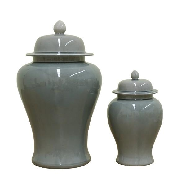 STIRLING Berlin Grey Ginger Jars Set of 2 - Hamptons Home {product_type] Hamptons style Furniture