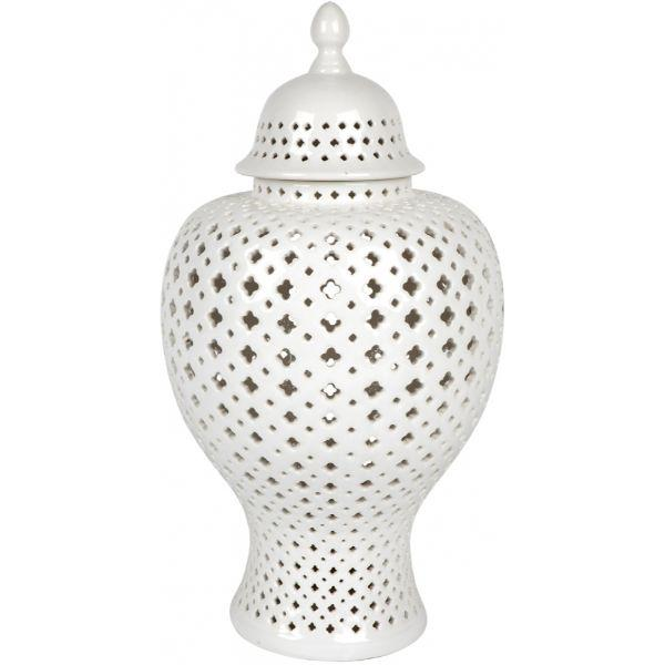 Ginger Jars - White Large Minx Temple Jar 62 Cm H