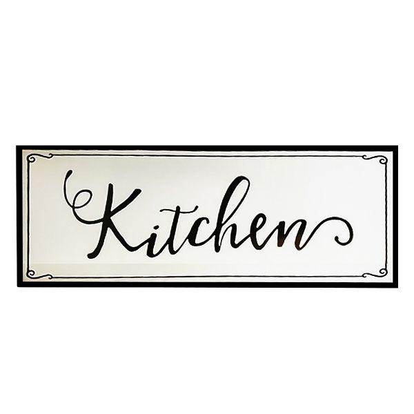 Black and White Retro Farmhouse Kitchen Wall Sign | Hamptons Home